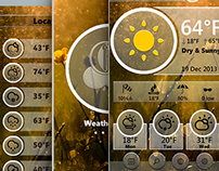 weather App UI mock ups