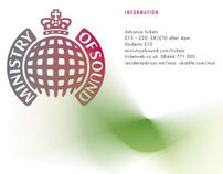 D & AD // Ministry of Sound posters