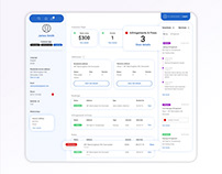 Dashboard Wireframe for Customer Service Portal
