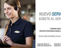 Campaña Nuevo Servicio Chevrolet - Marketing digital
