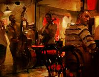 The jazz band.