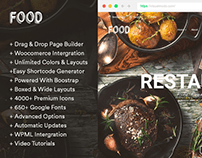 Food WordPress Theme - Features & Elements