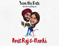 Save the Date Video for Amit Raj & Nanki