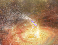 Accretion disk Concept Art for NSC Creative