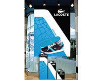 Lacoste Sneaker Display