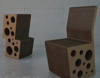 Cheese cardboard chair and bar stool