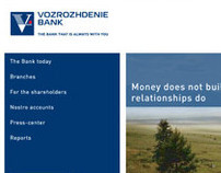 VOZROZHDENIE BANK Website