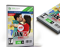 Game Case Wedding Invitation Template