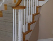 The evolution of the stair case remodel. By Gage
