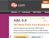 AOL: AIM.com User Experience & Visual Design