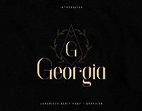Georgia Luxurious Serif font