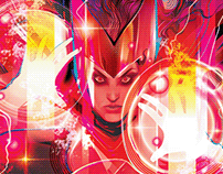 OFFICIAL SCARLET WITCH- VECTOR- Timed Edition Print