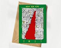 New Year Greeting Card 2021 - Vector drawing version