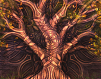 Mystic Trees Tapestry Designs