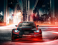 Light trails in the city – Audi Brand Book!