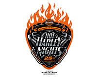 Hot Harley Nights - 25th Anniversary Logo