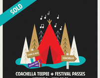 coachella in a private teepee