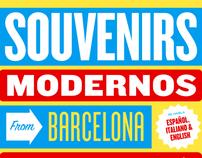 Souvenirs modernos from Barcelona