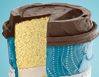 3D Cake Cup for Caribou 25 years • USA