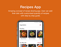 Recipe App UI UX Design