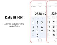 Daily UI #004 - Simple Calculator