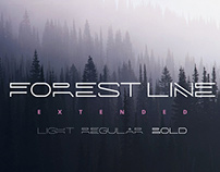 Forest Line Extended Linear Font