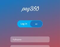 Pay360 Signin Signup Mockups