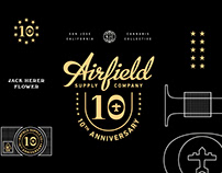 Airfield Supply Co. 10th Anniversary branding