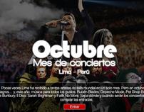 Especial Multimedia Octubre mes de Conciertos