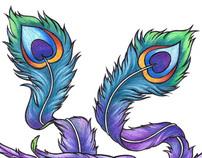 Commissioned phoenix tattoo design