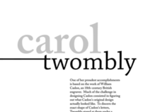 Carol Twombly Study