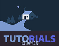 Tutorial - Free Download - Night House Drawing