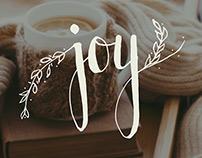 Hand Lettering Practice // Joy