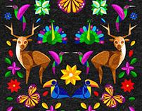 Bolsa con patrón textil