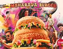 Hamburger advertising | Inspired by Bollywood | landing