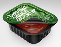 Sauce Dipping Cups Mockups