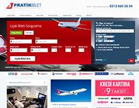 Uçak Bileti Satış Sitesi - PratikBilet.Net