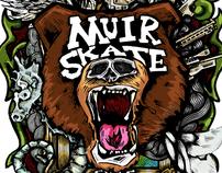 MuirSkate X Landyachtz Board Graphic