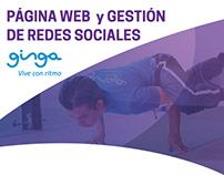 Página web + Gestión de Facebook - Ginga Sport