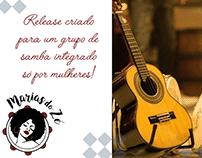 Projeto Editorial - Release Marias do Zé