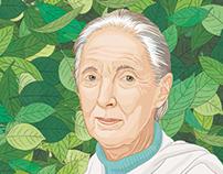 JANE GOODALl - Ilustración - Revista Etiqueta Verde E16