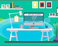 flat illustration for social media advertising