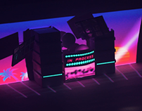 Video Mapping Retro Wave