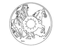 Horse Clock Vector