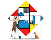 Mondri an' his house
