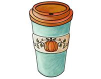 Pumpkin Spice Illustration & Digital Print