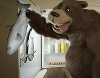 TEAG lazy bear animation