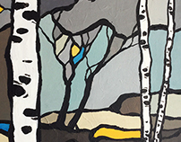birch in winter