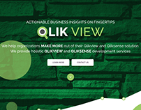 Web page design of QlikView development services