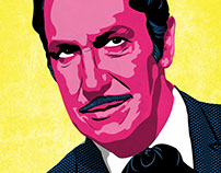 Vincent Price vector portrait